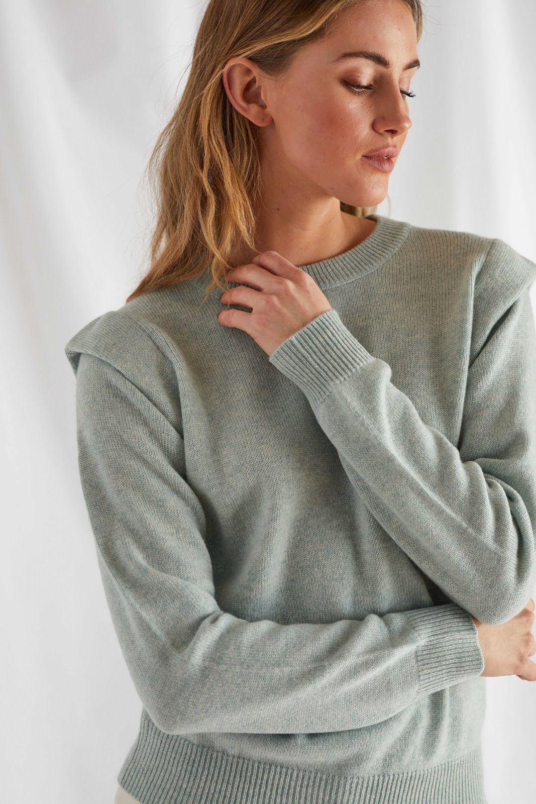Shoulder Fold Sweater