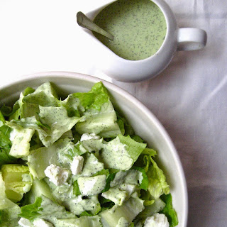 Crunchy Romaine Salad With Garlicky Buttermilk, Goat Cheese And Fresh Dill Dressing