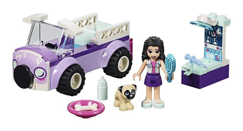 Contenido de Lego® 41360 Clínica Móvil Veterinaria de Enma