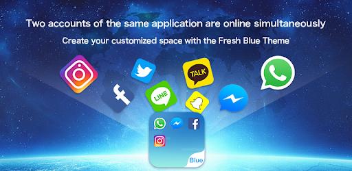 Dual Space - Le Thème Fresh Blue