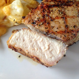 Brined and Grilled Pork Chops.