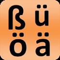 German alphabet for university students icon