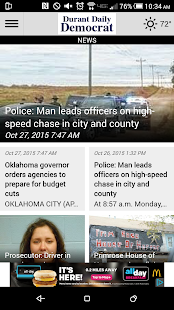 Durant Daily Democrat- screenshot thumbnail