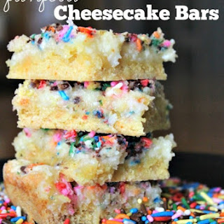 Funfetti Cheesecake Bars