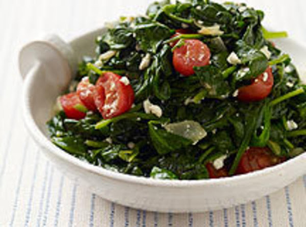 Sauteed Spinach And Tomatoes Recipe