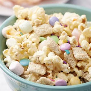 Springtime M&M Popcorn Snack Mix