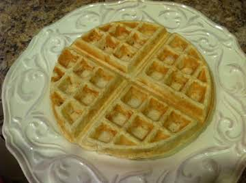 Healthy Belgian Waffles (Whole Wheat, Flax, Chia)
