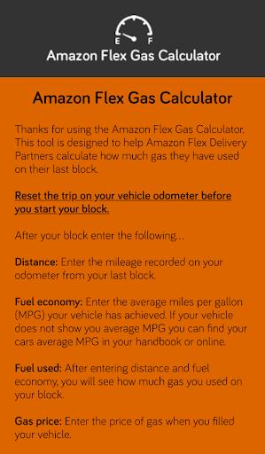 Flex Gas Calculator Screenshot 2