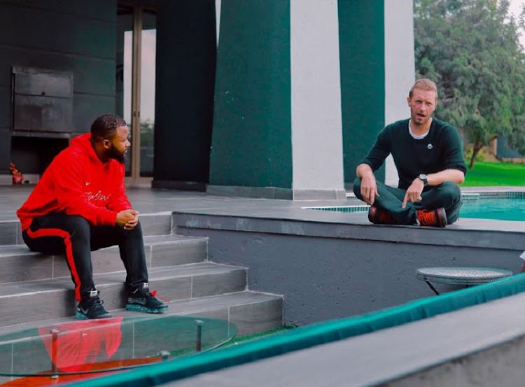 Cassper Nyovest and Chris Martin.