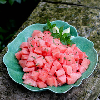 Watermelon Salad with Lemon and Mint