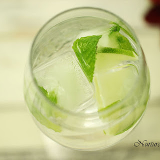 Lime Mint Ice Cubes.