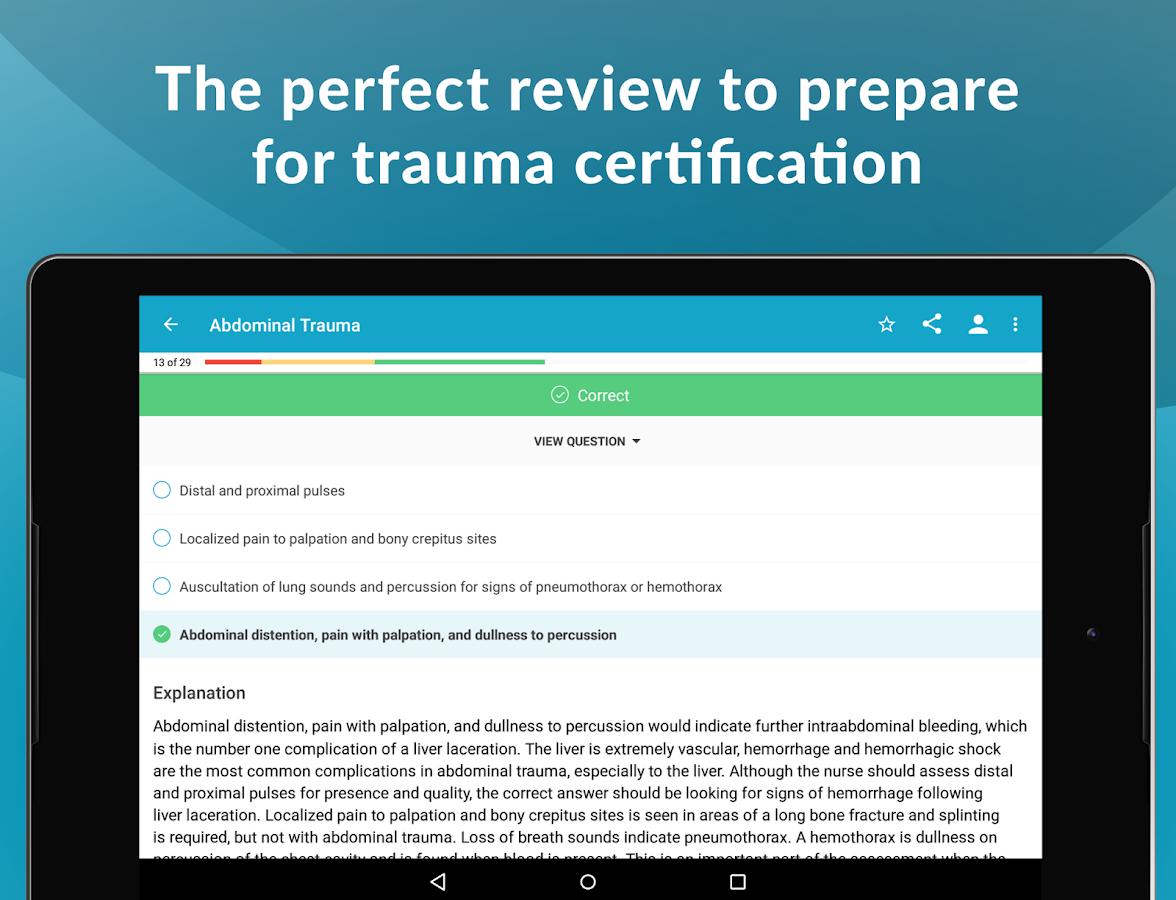 Tcrn qa trauma certified nurse exam study guide android apps tcrn qa trauma certified nurse exam study guide screenshot xflitez Images