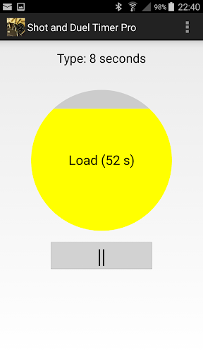 Shot and Duel Timer Pro app for Android screenshot