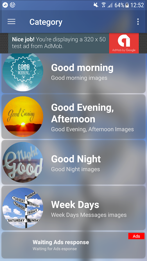 Good Morning, Good Evening, Good Night Messages - Android