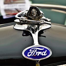 Crawling Reaper by Benito Flores Jr - Transportation Automobiles ( chrome, car, austin, travis expo, reaper, texas, car show, ford, hood, lone star round up )
