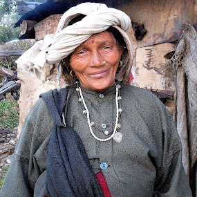 old lady of himalaya  by Jayanta Roy - People Portraits of Women ( old lady, himalaya, india, smile.face )