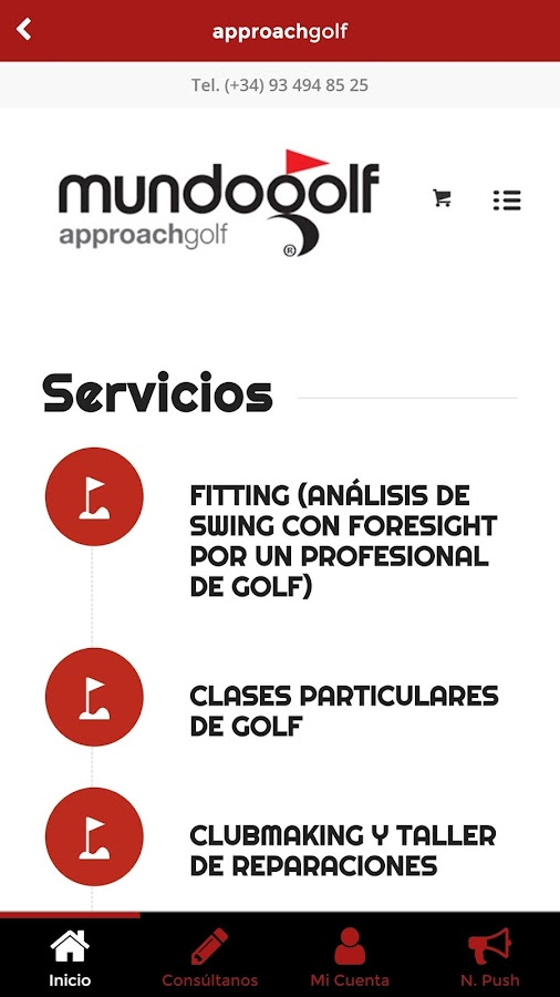 Mundogolf - Premium in Golf: captura de pantalla
