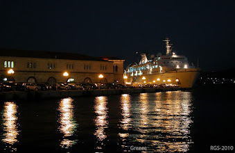 Photo: Segelturn-Griechenland-2010, Ermoupoli auf der Insel Syros bei Nacht