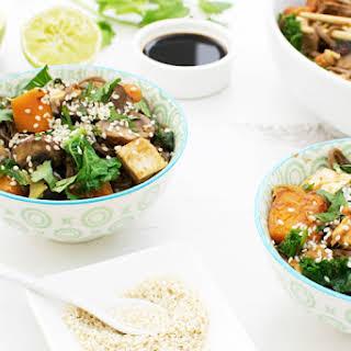 Butternut & Tofu Miso Noodles [vegan].