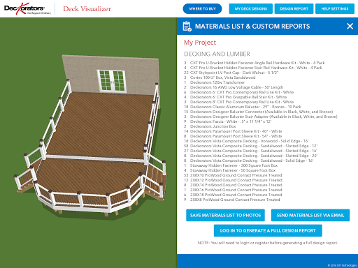 Deckorators Deck Visualizer app (apk) free download for Android/PC/Windows screenshot