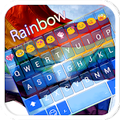 Rainbow Flag Emoji Keyboard theme for Gay pride