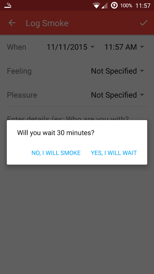 Smoking Log Plus License- screenshot