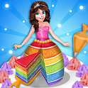 Rainbow Doll Cake Maker DIY Kitchen icon