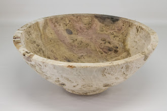 "Photo: Bill Long 10 1/2"" x 5"" bowl [poplar burl] (unfinished)"