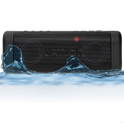 Ivation Acoustix All-Terrain Bluetooth Speakers w/ FM Radio & LCD Display, IPX7 Water & Dust Proof - Rechargeable 2500mAh Battery for 9 Hour Play Time
