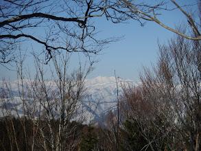 白山を眺めながら歩く