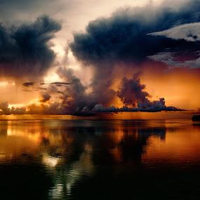 Reflections by Jun Robato - Landscapes Cloud Formations ( cloud formations, guam, seascapes, reflections, landscapes )