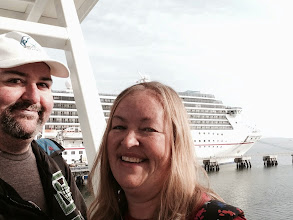 Photo: Boarding the Carnival Miracle for our Christmas Cruise!