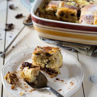 Hot Cross Bun Bread and Butter Pudding.