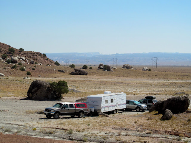 Camp on Buckhorn Flat at the base of Cedar Mountain