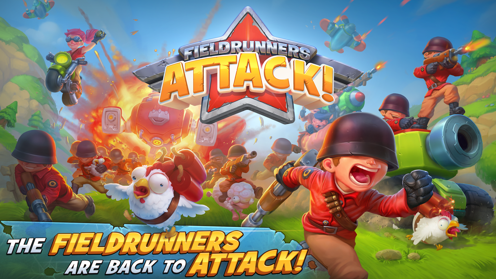 Fieldrunners Attack! (Unreleased)- screenshot