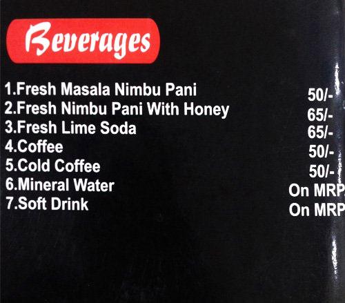 Vrinda's Food menu 8