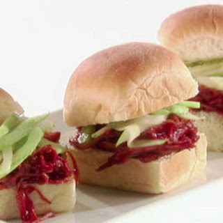 Cranberry BBQ Sauce Turkey Sliders