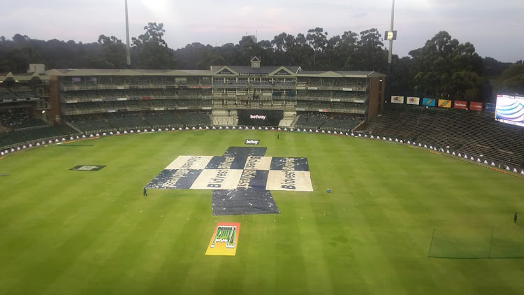 There was no ball bowled due to persistent Highveld rain at the Wanderers Stadium in Johannesburg in the washed out Mzansi Super League qualifier on Friday December 14 2018.
