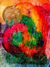 Photo: 029 (VIEW B) LOVERS ~ КОХАННЯ Luba Bilash original ~ mixed media matted & framed $275