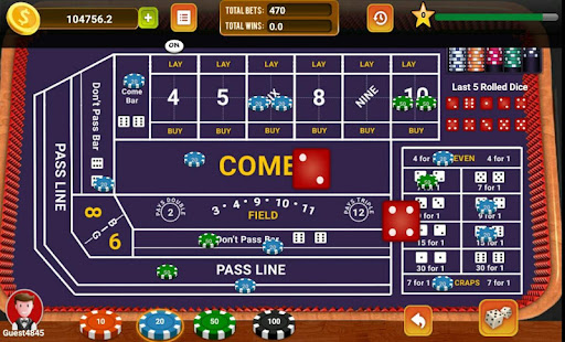 Craps shooter app