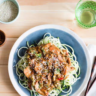 Almond Butter and Veggie Zoodles   serves one.