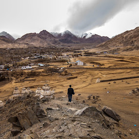 SOLITUDE | LADAKH by Inderjit Singh - Landscapes Mountains & Hills ( leh, inderanim, ladakh, hues, landscapes )