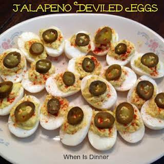 Jalapeno Deviled Eggs.