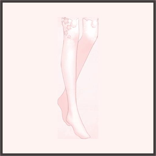 さくら模様の靴下