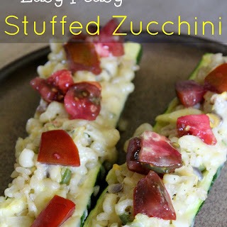 Easy Peasy Stuffed Zucchini