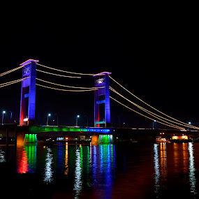 AMPERA by Zaddam Hussein H.R - Buildings & Architecture Bridges & Suspended Structures ( landmark, structure, badploi, south sumatera, palembang, indonesia, ploi, bridge )