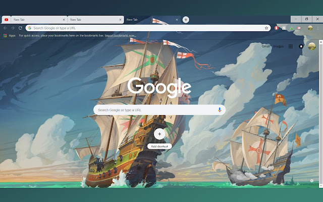 Pirate Ships in Naval Battle | 1366x768