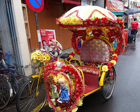 Photo: Trishaw - notice the Frozen characters on the front.