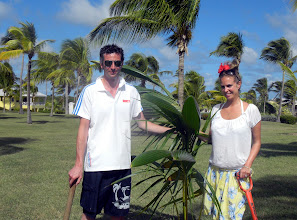 Photo: Congratulations to newlyweds Alan and Amy Lamont of Scotland. The couple celebrated with a palm planting on the last day of their honeymoon.