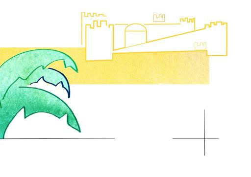Chateau de sable illustration enfant- Affiche personnalisée - cadeau d'anniversaire et d enaissance - vacances - été printemps - Illustre Albert